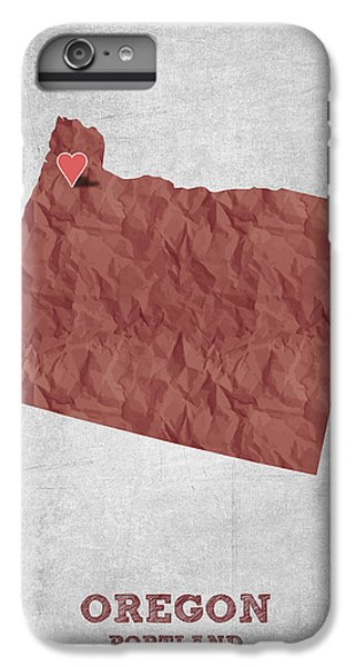 I Love Portland Oregon- Red IPhone 6 Plus Case by Aged Pixel
