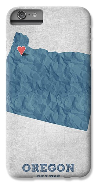 I Love Salem Oregon- Blue IPhone 6 Plus Case by Aged Pixel