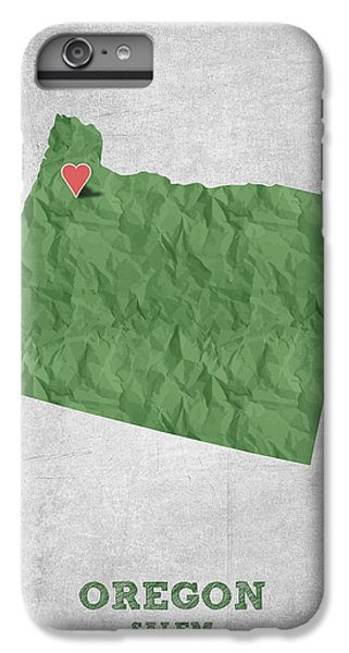I Love Salem Oregon- Green IPhone 6 Plus Case by Aged Pixel