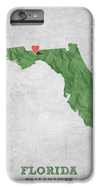I Love Tallahassee Florida - Green IPhone 6 Plus Case by Aged Pixel
