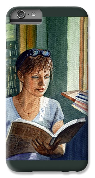 IPhone 6 Plus Case featuring the painting In The Book Store by Irina Sztukowski