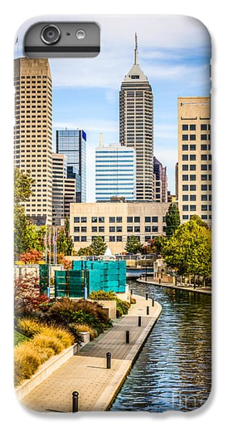Skylines iPhone 6 Plus Case - Indianapolis Skyline Picture Of Canal Walk In Autumn by Paul Velgos