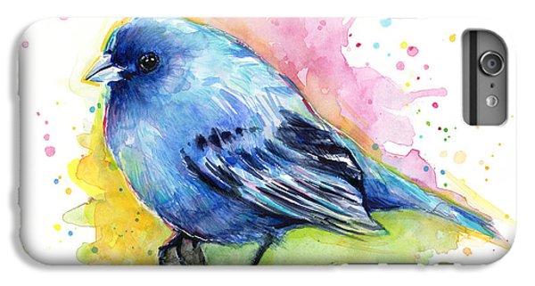 Indigo Bunting Blue Bird Watercolor IPhone 6 Plus Case