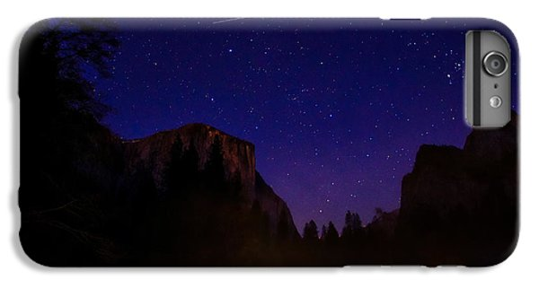 International Space Station Over Yosemite National Park IPhone 6 Plus Case