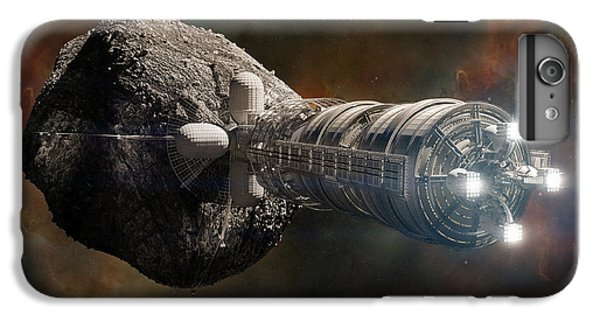 Space Ships iPhone 6 Plus Case - Interstellar Colony Maker by Bryan Versteeg