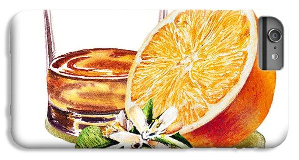 IPhone 6 Plus Case featuring the painting Irish Whiskey And Orange by Irina Sztukowski