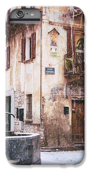 IPhone 6 Plus Case featuring the photograph Italian Square In  Snow by Silvia Ganora