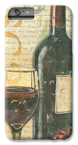 Wine iPhone 6 Plus Case - Italian Wine And Grapes by Debbie DeWitt