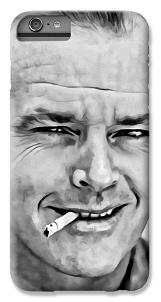 Jack Nicholson iPhone 6 Plus Case - Jack Nicholson by Florian Rodarte
