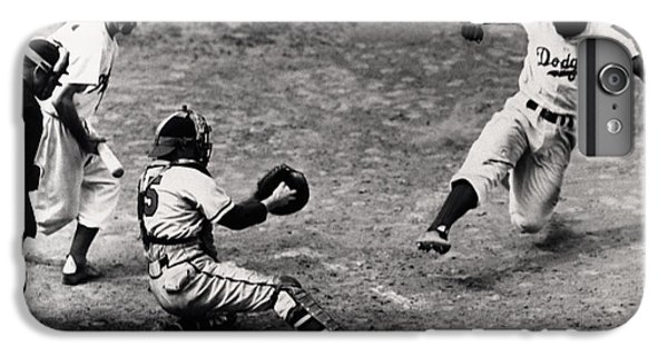 Jackie Robinson In Action IPhone 6 Plus Case by Gianfranco Weiss
