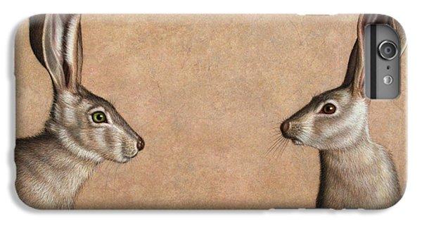 Rabbit iPhone 6 Plus Case - Jackrabbits by James W Johnson