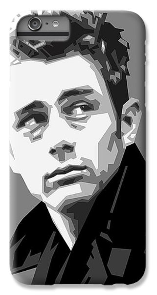 James Dean In Black And White IPhone 6 Plus Case by Douglas Simonson