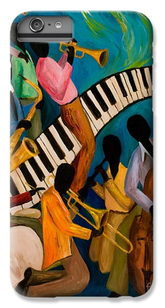 Saxophone iPhone 6 Plus Case - Jazz On Fire by Larry Martin