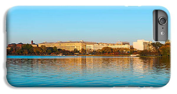 Jefferson Memorial iPhone 6 Plus Case - Jefferson Memorial And Washington by Panoramic Images