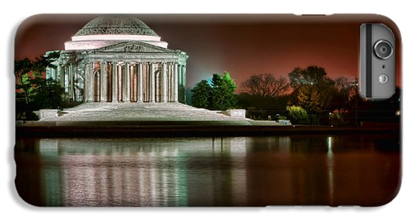 Jefferson Memorial iPhone 6 Plus Case - Jefferson Memorial At Night by Olivier Le Queinec
