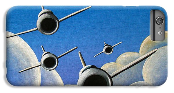 Airplane iPhone 6 Plus Case - Jet Quartet by Cindy Thornton