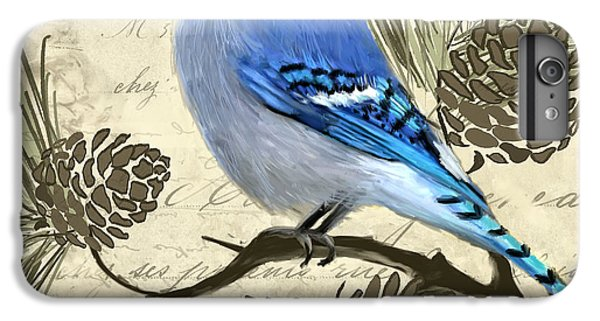 Bluejay iPhone 6 Plus Case - Jeweled Blue by Lourry Legarde