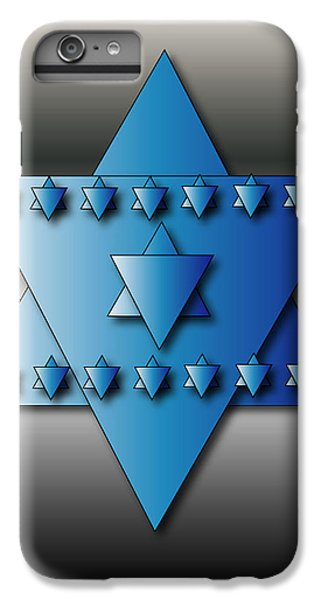 IPhone 6 Plus Case featuring the digital art Jewish Stars by Marvin Blaine