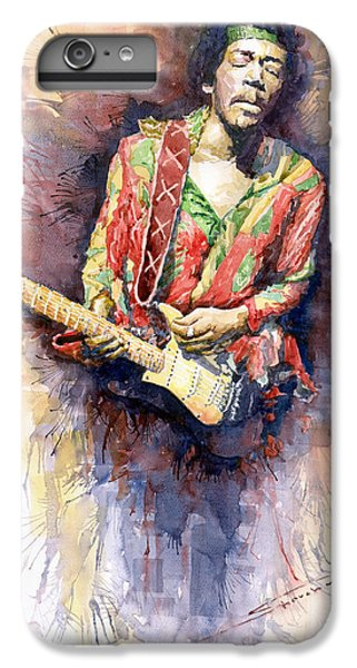 Figurative iPhone 6 Plus Case - Jimi Hendrix 09 by Yuriy Shevchuk