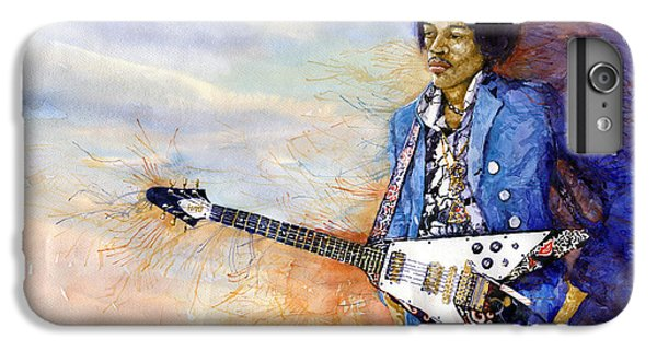 Figurative iPhone 6 Plus Case - Jimi Hendrix 10 by Yuriy Shevchuk