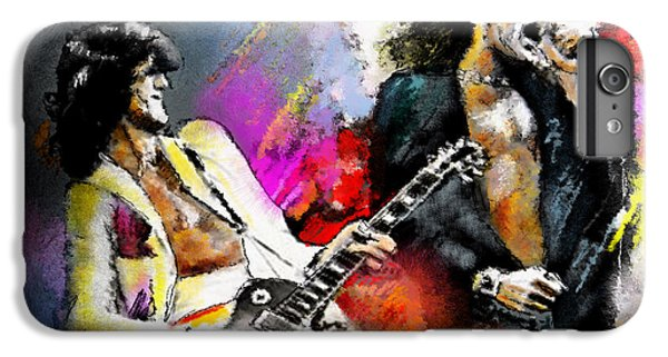 Jimmy Page And Robert Plant Led Zeppelin IPhone 6 Plus Case by Miki De Goodaboom