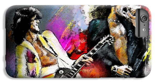 Musicians iPhone 6 Plus Case - Jimmy Page And Robert Plant Led Zeppelin by Miki De Goodaboom