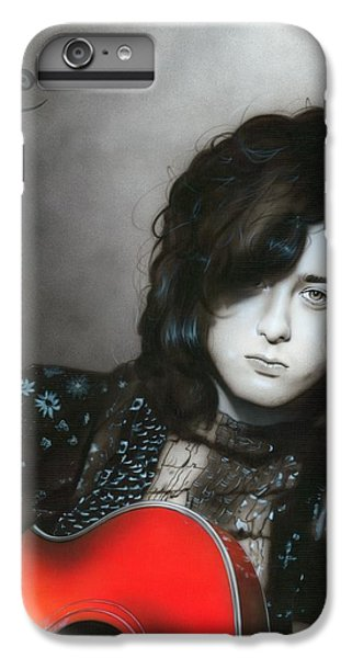 ' Jimmy Page ' IPhone 6 Plus Case by Christian Chapman Art