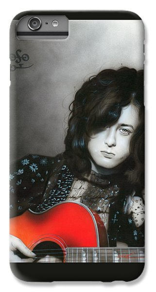 Rock Music Jimmy Page iPhone 6 Plus Case - Jimmy Page by Christian Chapman Art