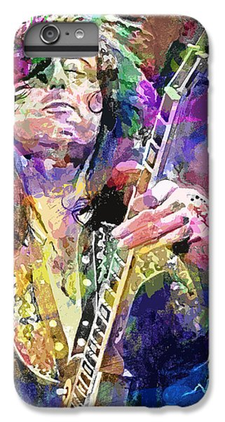 Jimmy Page Electric IPhone 6 Plus Case by David Lloyd Glover