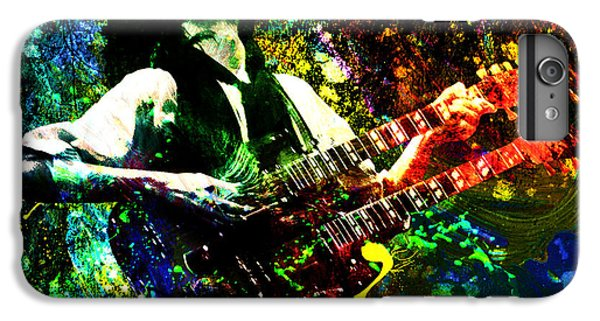 Jimmy Page - Led Zeppelin - Original Painting Print IPhone 6 Plus Case by Ryan Rock Artist