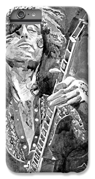 Jimmy Page Mono IPhone 6 Plus Case by David Lloyd Glover