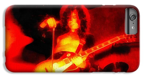 Rock Music Jimmy Page iPhone 6 Plus Case - Jimmy Page On Fire by Dan Sproul