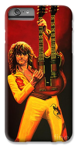 Jimmy Page Painting IPhone 6 Plus Case by Paul Meijering