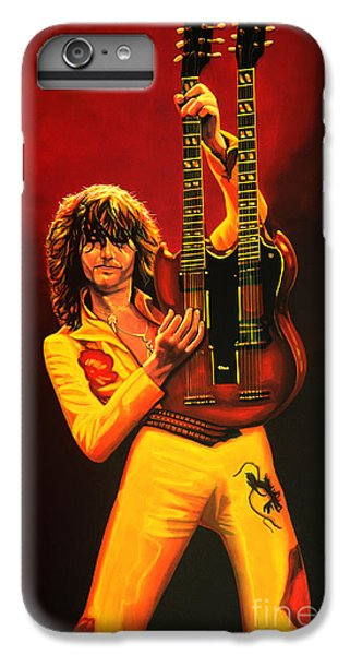 Rock Music Jimmy Page iPhone 6 Plus Case - Jimmy Page Painting by Paul Meijering