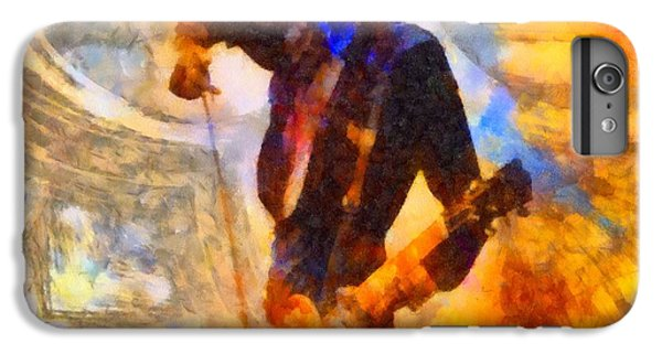 Rock Music Jimmy Page iPhone 6 Plus Case - Jimmy Page Playing Guitar With Bow by Dan Sproul