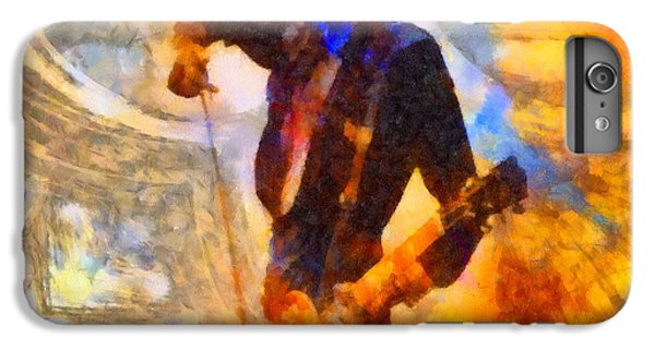 Jimmy Page Playing Guitar With Bow IPhone 6 Plus Case by Dan Sproul