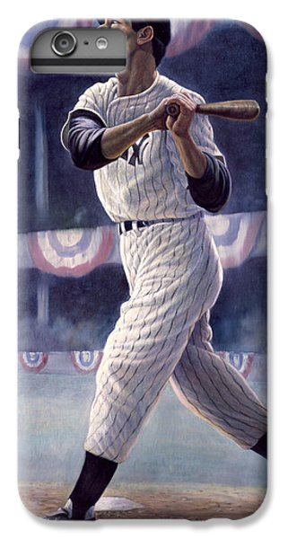 Joe Dimaggio IPhone 6 Plus Case by Gregory Perillo