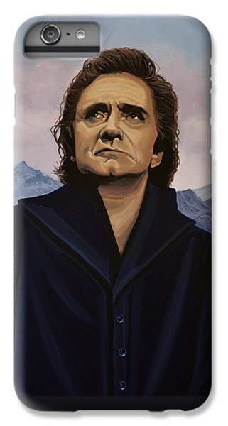 Rock And Roll iPhone 6 Plus Case - Johnny Cash Painting by Paul Meijering