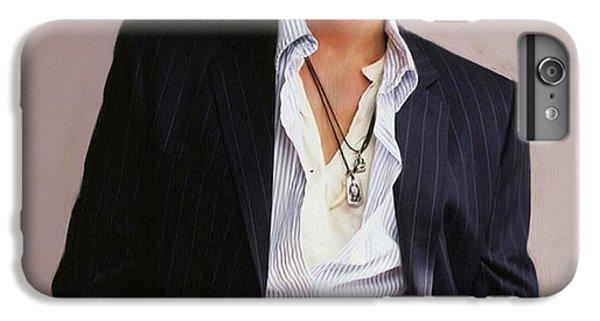Johnny Depp IPhone 6 Plus Case by Dominique Amendola