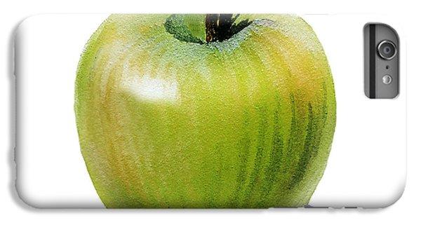IPhone 6 Plus Case featuring the painting Juicy Green Apple by Irina Sztukowski
