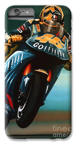 Goat iPhone 6 Plus Case - Jumping Valentino Rossi  by Paul Meijering