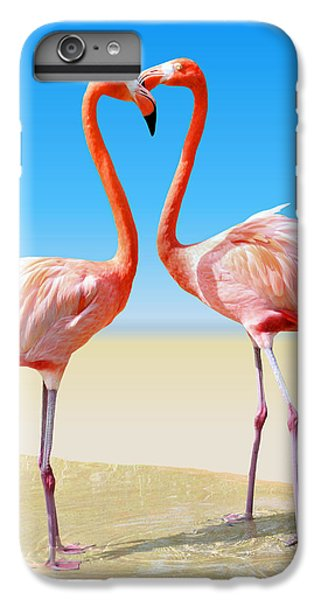 Flamingo iPhone 6 Plus Case - Just We Two by Kristin Elmquist