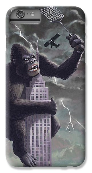 King Kong Plane Swatter IPhone 6 Plus Case by Martin Davey