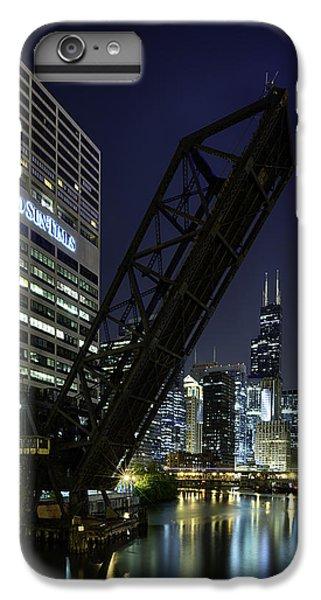 Kinzie Street Railroad Bridge At Night IPhone 6 Plus Case