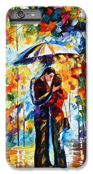 Afremov iPhone 6 Plus Case - Kiss Under The Rain 2 by Leonid Afremov