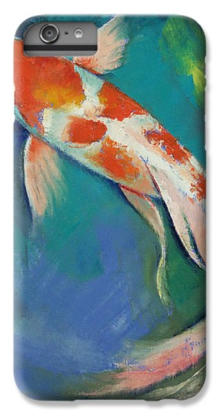 Kohaku Butterfly Koi IPhone 6 Plus Case by Michael Creese