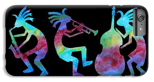 Kokopelli Jazz Trio IPhone 6 Plus Case by Jenny Armitage