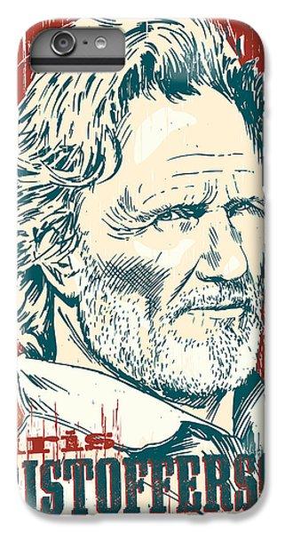 Kris Kristofferson Pop Art IPhone 6 Plus Case