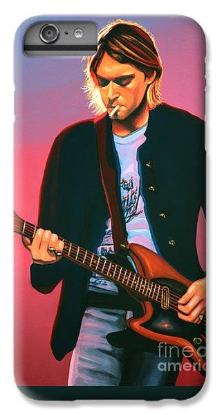 Kurt Cobain In Nirvana Painting IPhone 6 Plus Case by Paul Meijering