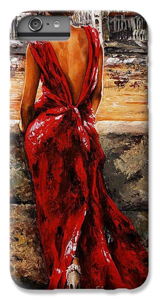 Lady In Red  34 -  I Love Budapest IPhone 6 Plus Case by Emerico Imre Toth